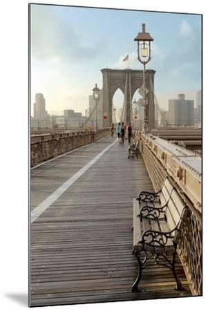 Brooklyn Bridge Walkway No. 2-Alan Blaustein-Mounted Photographic Print