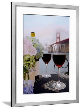 Dream Cafe Golden Gate Bridge #14-Alan Blaustein-Framed Photographic Print