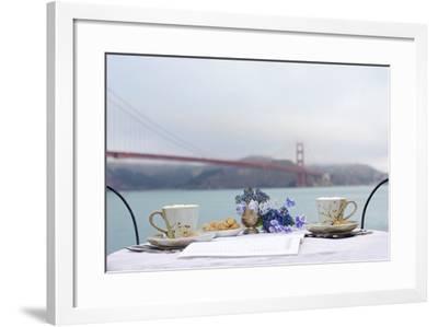 Dream Cafe Golden Gate Bridge #54-Alan Blaustein-Framed Photographic Print