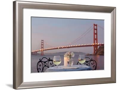 Dream Cafe Golden Gate Bridge #77-Alan Blaustein-Framed Photographic Print