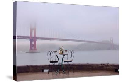 Dream Cafe Golden Gate Bridge #58-Alan Blaustein-Stretched Canvas Print