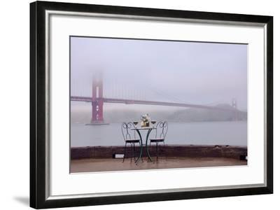 Dream Cafe Golden Gate Bridge #58-Alan Blaustein-Framed Photographic Print
