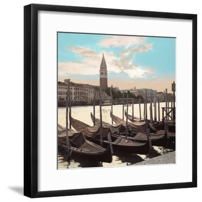 Campanile Vista with Gondolas #1-Alan Blaustein-Framed Photographic Print