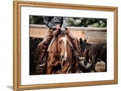 Cutting Horse-Lisa Dearing-Framed Photographic Print