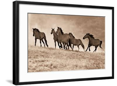 Kicking Dust-Lisa Dearing-Framed Photographic Print