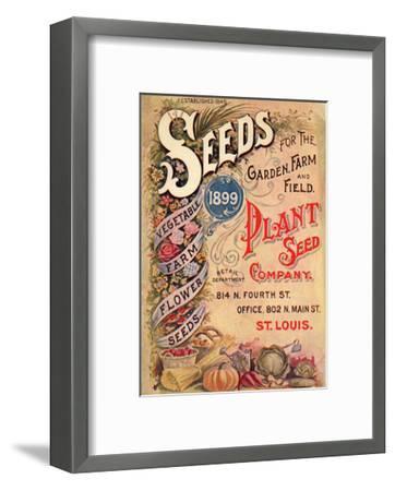 Seed Catalog Captions (2012): Plant Seed Company, St. Louis, Missouri--Framed Art Print