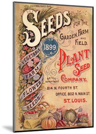 Seed Catalog Captions (2012): Plant Seed Company, St. Louis, Missouri--Mounted Art Print