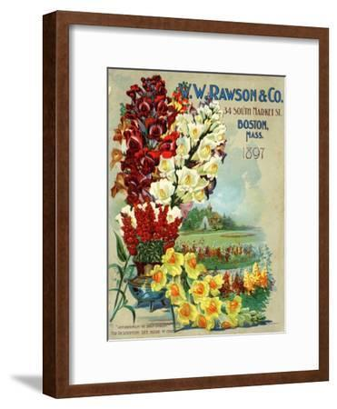 Seed Catalog Captions (2012): W.W. Rawson and Co, Boston, Massachusetts, 1897--Framed Art Print