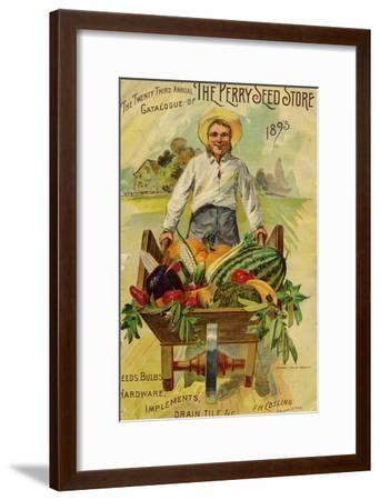 Seed Catalogues: The Perry Seed Store. Syracuse, NY, 1893--Framed Art Print
