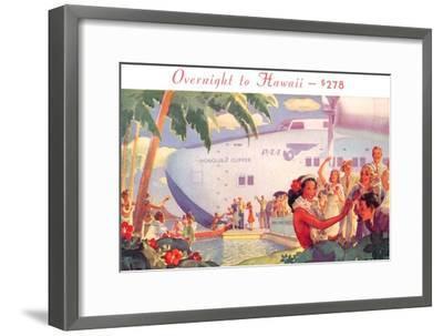 Overnight to Hawaii--Framed Art Print