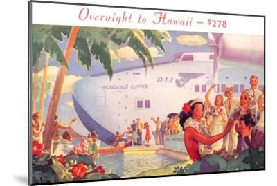 Overnight to Hawaii--Mounted Art Print