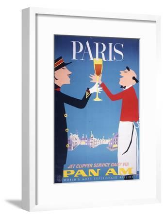Pan Am - Paris--Framed Art Print