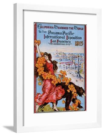 World's Fair: California Welcomes the World to the Panama Pacific International Exposition--Framed Art Print