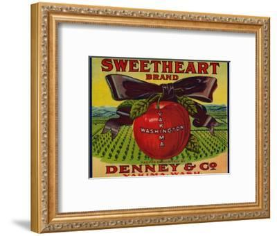 Warshaw Collection of Business Americana Food; Fruit Crate Labels, Denney & Co.--Framed Art Print