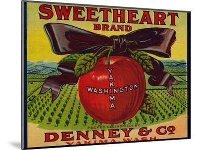 Warshaw Collection of Business Americana Food; Fruit Crate Labels, Denney & Co.--Mounted Art Print