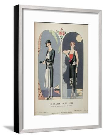 Costume Illustration by Georges Barbier--Framed Art Print