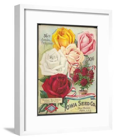 Seed Catalog Captions (2012): Iowa Seed Co. Des Moines, Iowa. 36th Annual Catalogue, 1906--Framed Art Print