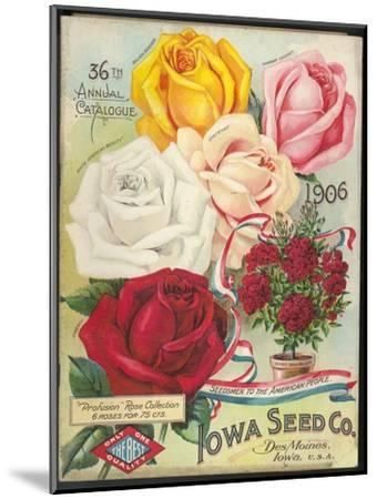 Seed Catalog Captions (2012): Iowa Seed Co. Des Moines, Iowa. 36th Annual Catalogue, 1906--Mounted Art Print
