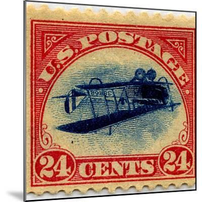 24-cent Curtis Jenny Invert Stamp--Mounted Art Print