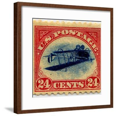 24-cent Curtis Jenny Invert Stamp--Framed Art Print