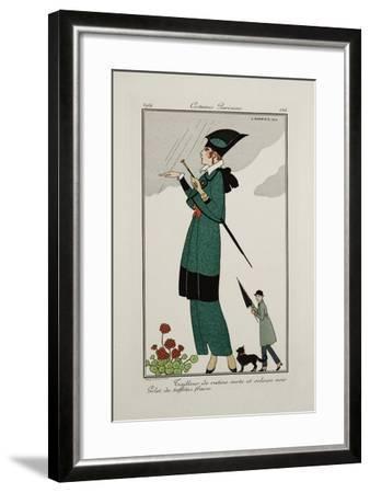 Smithsonian Institution Libraries: Costumes. Journal des dames et des modes,  Plate 156--Framed Art Print