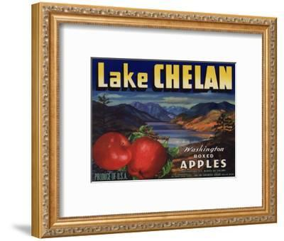 Warshaw Collection of Business Americana Food; Fruit Crate Labels, Lake Chelan Growers Union--Framed Art Print