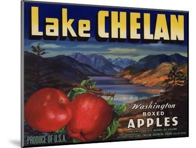 Warshaw Collection of Business Americana Food; Fruit Crate Labels, Lake Chelan Growers Union--Mounted Art Print