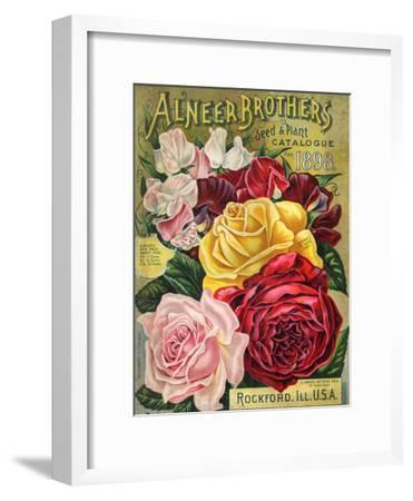 Alneer Brothers Seed and Plant Catalogue, 1898--Framed Art Print
