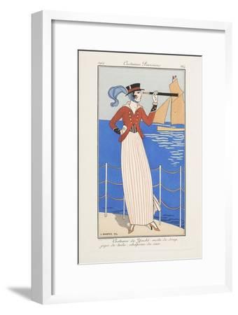 Smithsonian Libraries: Costumes Parisiens by Georges Barbier--Framed Art Print