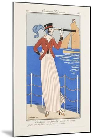 Smithsonian Libraries: Costumes Parisiens by Georges Barbier--Mounted Art Print
