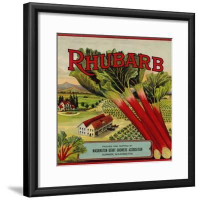 Warshaw Collection of Business Americana Food; Fruit Crate Labels, Washington Berry Growers--Framed Art Print