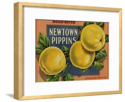 Fruit Crate Labels: Newtown Pippins; Davidson Fruit Company--Framed Art Print