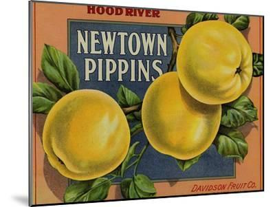 Fruit Crate Labels: Newtown Pippins; Davidson Fruit Company--Mounted Art Print
