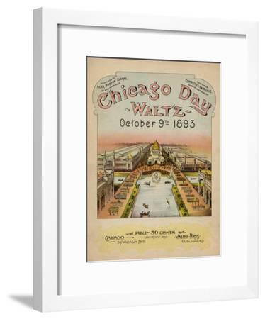 World's Fair: Chicago Day Waltz, October 9th, 1893--Framed Art Print