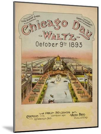 World's Fair: Chicago Day Waltz, October 9th, 1893--Mounted Art Print