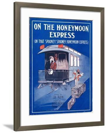 """Sheet Music Cover: """"On the Honeymoon Express"""" Music by J. Kendis and F. Sti--Framed Art Print"""
