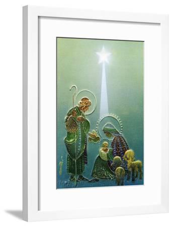 Center Warshaw Collection of Business Americana Series: Christmas Religious Madonna and Child--Framed Art Print