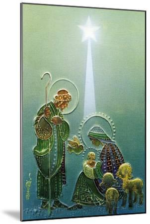 Center Warshaw Collection of Business Americana Series: Christmas Religious Madonna and Child--Mounted Art Print