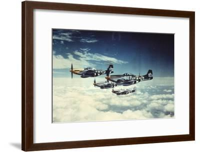 Air and Space: 361st Fight Group, Eighth Air Force--Framed Art Print
