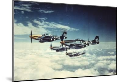 Air and Space: 361st Fight Group, Eighth Air Force--Mounted Art Print