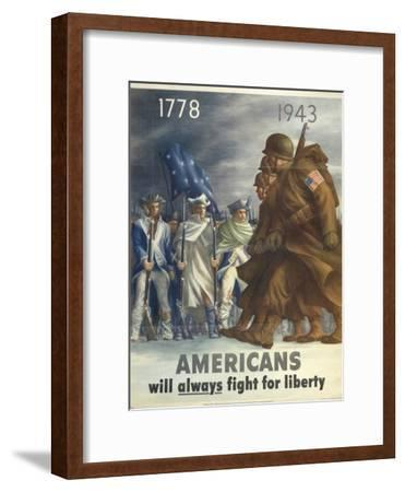 Military and War Posters: Office of War Information, Division of Public Inquiries, 1943--Framed Art Print