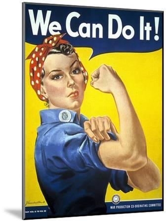Military and War Posters: We Can Do It! J Howard Miller, 1942--Mounted Art Print