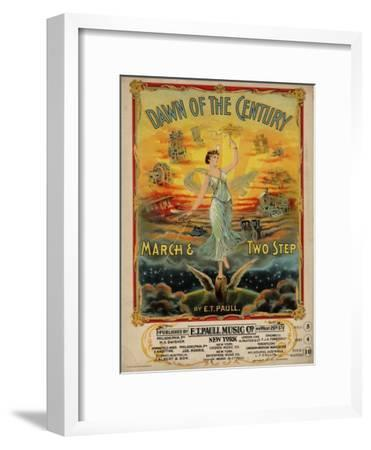 Dawn of the Century March & Two Step, Sam DeVincent Collection, National Museum of American History--Framed Art Print