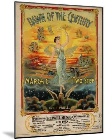 Dawn of the Century March & Two Step, Sam DeVincent Collection, National Museum of American History--Mounted Art Print