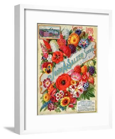 Seed Catalogues: John A. Salzer Seed Co. La Crosse, Wisconsin, Spring 1898--Framed Art Print