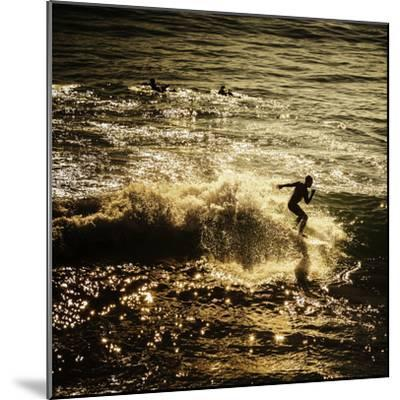 A Male Surfer Rides A Wave In The Pacific Ocean Off The Coast Of Santa Cruz This Image Tinted-Ron Koeberer-Mounted Photographic Print