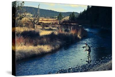 Spring Fly Fishing Outside Of Fairplay Colorado-Liam Doran-Stretched Canvas Print