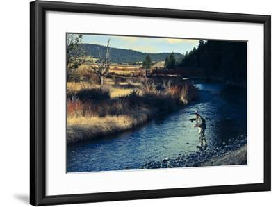 Spring Fly Fishing Outside Of Fairplay Colorado-Liam Doran-Framed Photographic Print