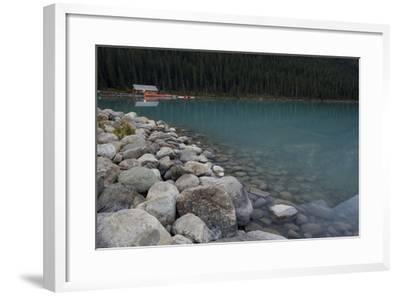 Cabin On Lake Louise-Lindsay Daniels-Framed Photographic Print