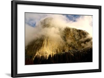 """Clouds Forming Over The Famous """"El Captain"""" In Yosemite National Park-Nicholas Giblin-Framed Photographic Print"""